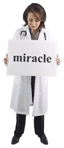 Nurse with Miracle sign